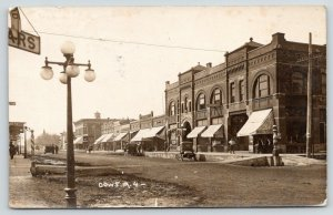 Dows Iowa~Main Street~Wallpaper Store~Pay Taxes Here~Barber Pole~1915 RPPC