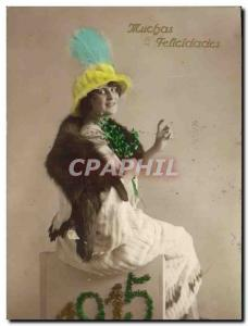 Old Postcard Fantaisie Fur Year 1915