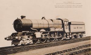GWR King George V Swindon Built Antique Train Real Photo Postcard