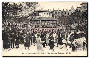 Postcard Old Kiosk St Jean de Luz Dance Fandango