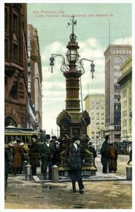 11798 CA San Fransico  1910  Lotta Fountain, Geary, Kearns, Market St