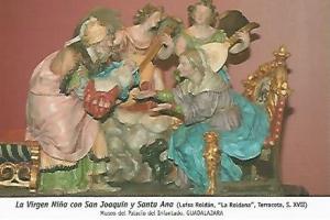 POSTAL 54756: La Virgen Ni? con San Joaquin y Santa Ana. Guadalajara
