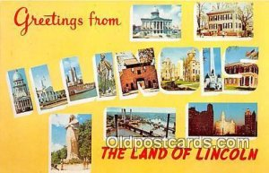 Land of Lincoln Illinois, USA Unused