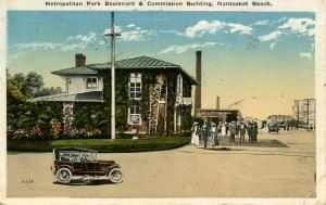 MA - Nantasket Beach. Metropolitan Park Boulevard & Commission Building