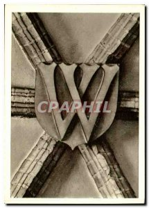 Postcard Modern Wroclaw City Hall keystone of Refectoire the crest letter of ...