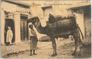 80302  -  TUNISIA  - VINTAGE POSTCARD -  TUNIS  Ethnic  1915
