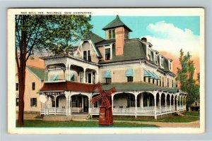 Walpole NH-New Hampshire, Red Mill Inn, Vintage c1930 Postcard