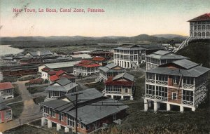 New Town, La Boca, Panama Canal Zone, early postcard, used