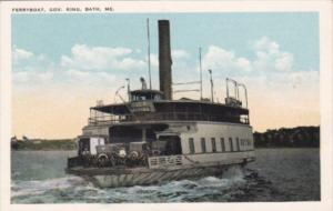 Maine Bath Ferryboat Governor King