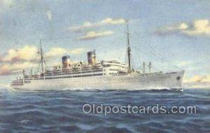 MS Italia Home Lines, Ship 1951 very light crease, postal used 1951
