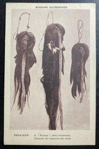 Mint France Picture Postcard Ecuador shrunken head Tzanza Enemies Heads