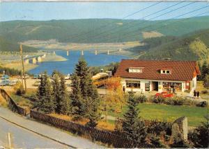 Blick von Schulenberg auf die Okertalsperre im Oberharz Bruecke Bridge
