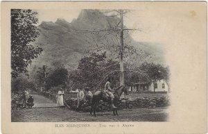 Antique Marquesas Islands South Pacific Atuona Carte Postale Postcard