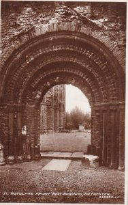 RP; COLCHESTER, Essex, England, 1920-1940s; St. Botolphs Priory, West Doorway