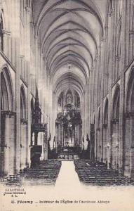 Interieur De l'Eglise De l'Ancienne Abbaye, Fecamp (Seine Maritime), France, ...