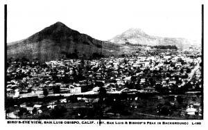 California Aerial view of San Luis Obispo , Mt.San Luis & Bishop's Peak