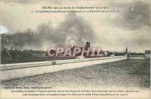 Old Postcard Reims in his Annees 1914 1917 Bombing