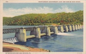 Montgomery Goverment Lock And Dam On Ohio River Between Midland And Beaver Pe...
