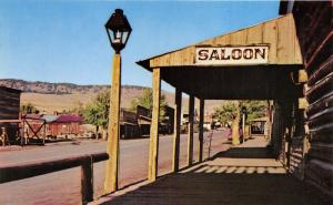Virginia City Montana~Saloon & Street View of Restored Gold Camp~1977 Postcard
