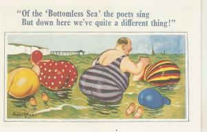 Donald McHill. Of the Bottomless Sea  Humorous English postcard