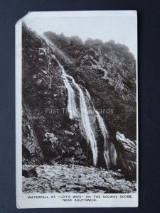 Sussex WATERFALL Lots Wife SOLWAY SHORE c1915 RP Postcard by J. Maxwell & Son