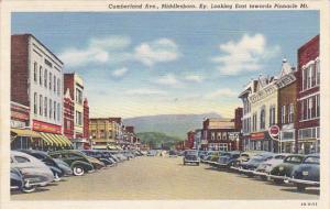 Kentucky Middlesboro Cumberland Avenue Looking East Towards Pinnacle Mountain...