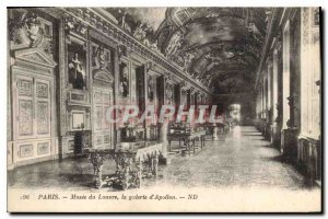 Old Postcard Paris Louvre Museum the Apollo Gallery