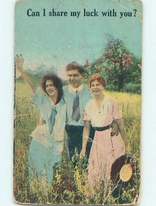 Bent 1913 MAN GETS LUCKY WITH TWO WOMEN - WANTS TO SHARE THE LUCK o7286