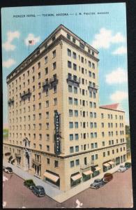 Postcard Pioneer Hotel Tucson Arizona LB