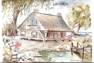 Louisiana Typical Cottage By Mable G Hust