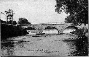 Granite Bridge & Falls  - North Peterborough c1930's Postcard NH - MrSTUFF B2/78