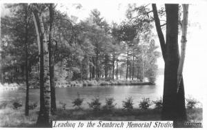 1920s Lake George New York Picturesque Waterfront RPPC real photo postcard 7536