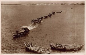 Ghana Gold Coast Accra surf boats natives real photo Postcard