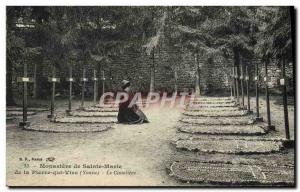 Old Postcard Monastery of St. Mary of La Vire PlERRE that the cemetery