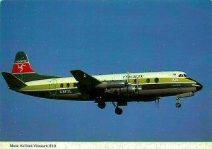 Manx Airlines Viscount 810 G-BFZL Postcard
