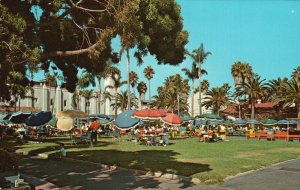 Del Mar, CA, Entrance Grounds at Del Mar Race Track, Vintage Postcard g5889