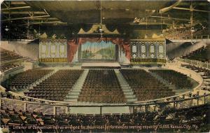 Kansas City Missouri~Convention Hall~Interior~Theatrical Performances~1908 PC