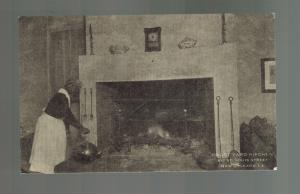 Mint Real Picture Postcard Black Americana Courtyard Kitchen New Orleans Maid