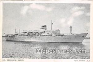 SS Theodor Herzl Zim Israel Navigation Co LTD Ship Postcard Post Card Zim Isr...