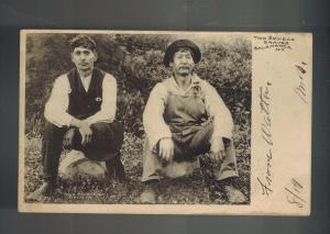 1906 Postcard Cover 2 Native American Indian Seneca Braves Salamanca NY Cover