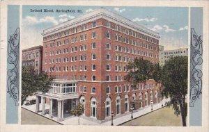 Illinois Springfield Leland Hotel1916