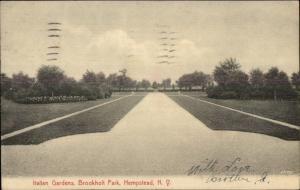 Hempstead Long Island NY Brookholt Park Italian Gardens c1910 Postcard