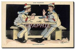 Postcard Old Gervese Illustrator Our Sailors Small Part Card Games