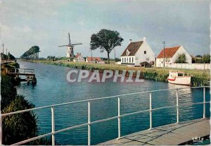 Old Postcard Damme paradise for fishermen