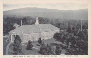 Massachusetts Mount Herman School Aerial View Of West Hall Albertype