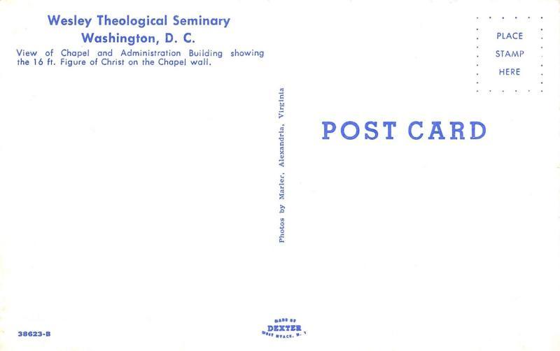 Washington DC~Wesley Theological Seminary~Administration & Chapel~Students~1950s