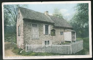 PA Philadelphia Old Home of David Rittenhouse Fairmount Park Photostint Postcard