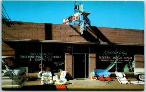 1950s California Advertising Postcard NORTHRIDGE POOL EQUIPMENT 18319 Parthenia