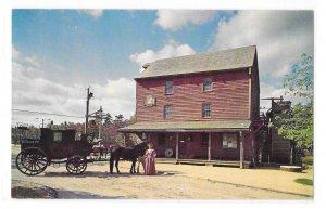 Smithville New Jersey Historic Gryst Mill Horse Drawn Wagon Vintage Postcard