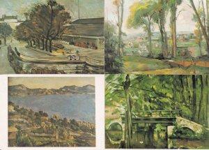 Paul Cezanne Bridge at Mennecy Bay Of Marseilles 4x Landscape Painting Postca...